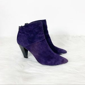 NEW Dolce Vita Harlan Purple Suede Ankle Booties